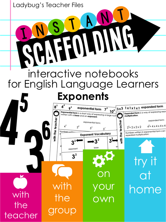 http://www.teacherspayteachers.com/Product/Interactive-Notebooks-for-English-Language-Learners-Exponents-1559886