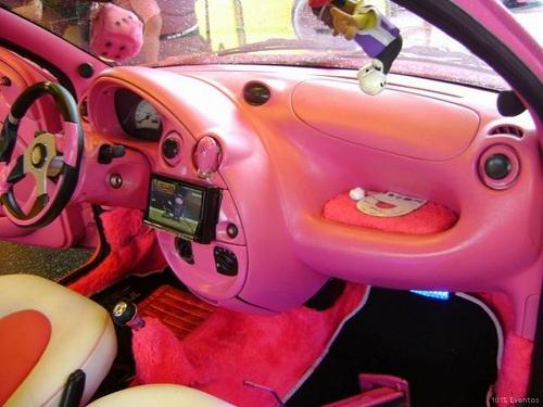ka rosa pink carros de mulheres