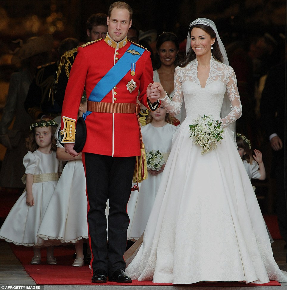 Wills and Kate! As they celebrate 12 months of wedded bliss, FEMAIL ...