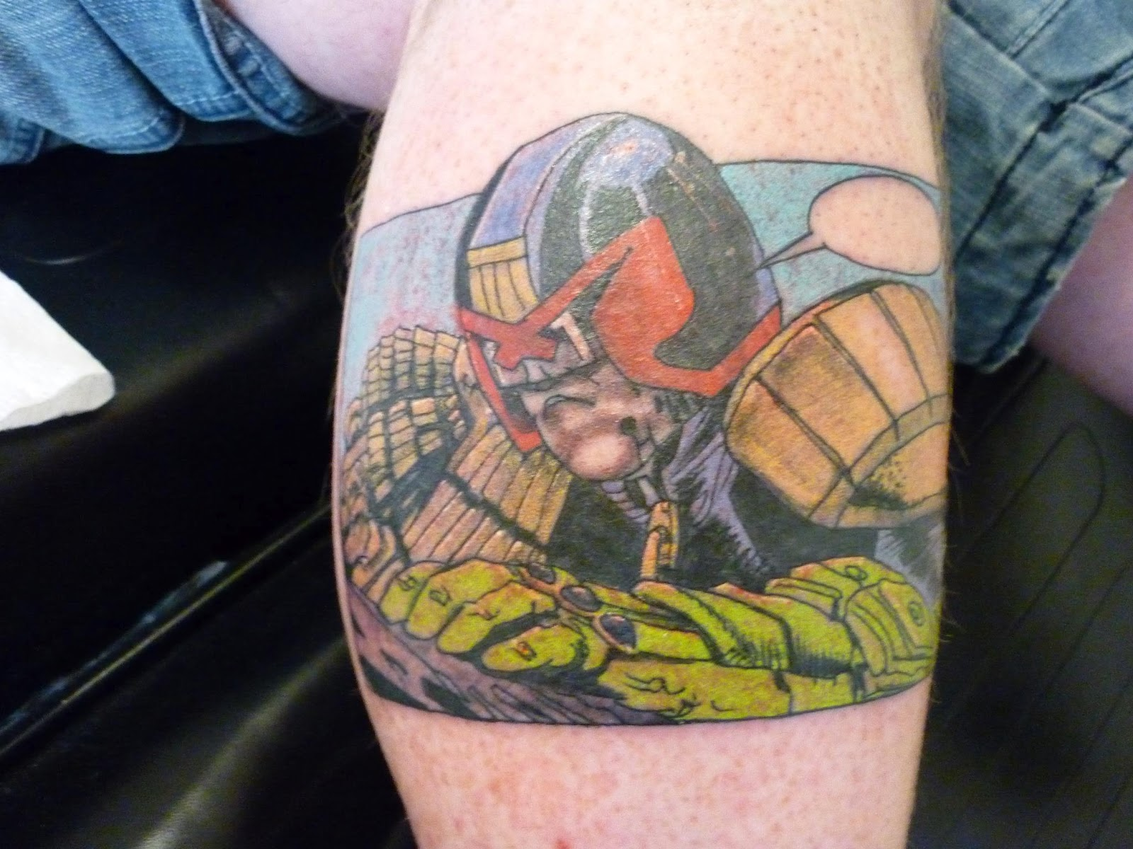 Judge Dredd Tattoo By Tony Hunt @ Inkwell Custom Tattoo Studio In