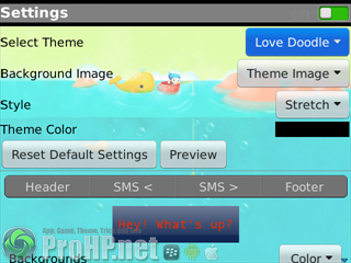 Cute Smart Sexy Fancy Pink HD Doodle Theme -SMS Viewer And Composer v1.0