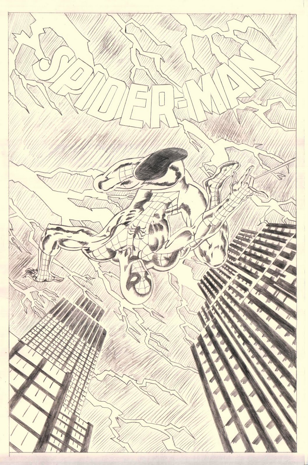 Original Comic Book Cover Art : Spider man original art cover recreation comic book