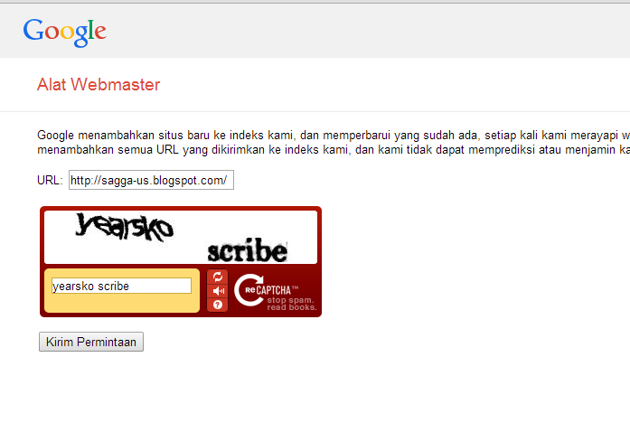 Cara Submit URL Blog ke Webmaster