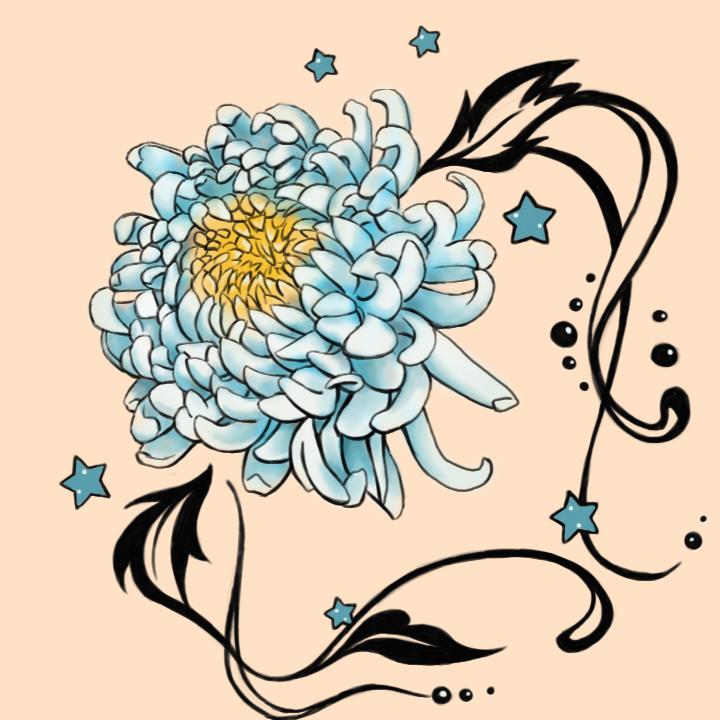 Chrysanthemum Flower Tattoos