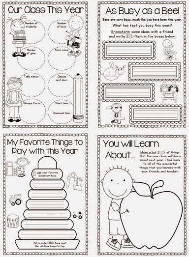 End of Year Memory Book and Activities K-1 Unit