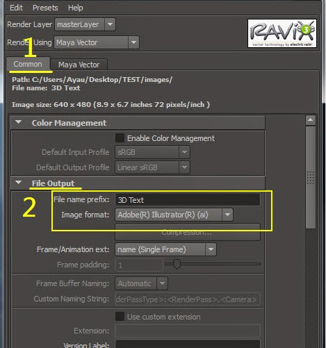 Maya Vector Render for AI 10