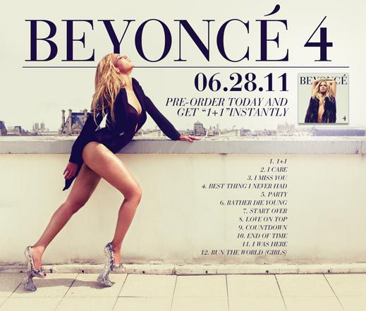 beyonce recently released may 25 2011 her new track listing for up and