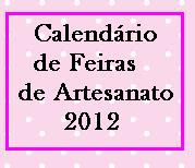 Calendrio de feiras!