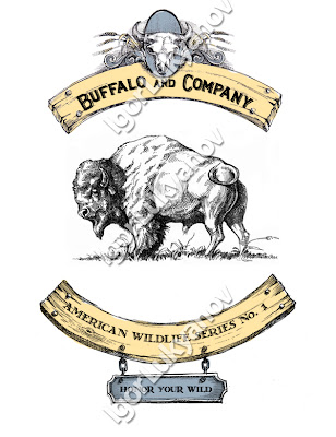 bannière faune de l'Amérique du Nord (bison)