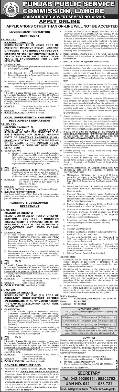 Assistant Engineers Civil & Other Jobs through PPSC