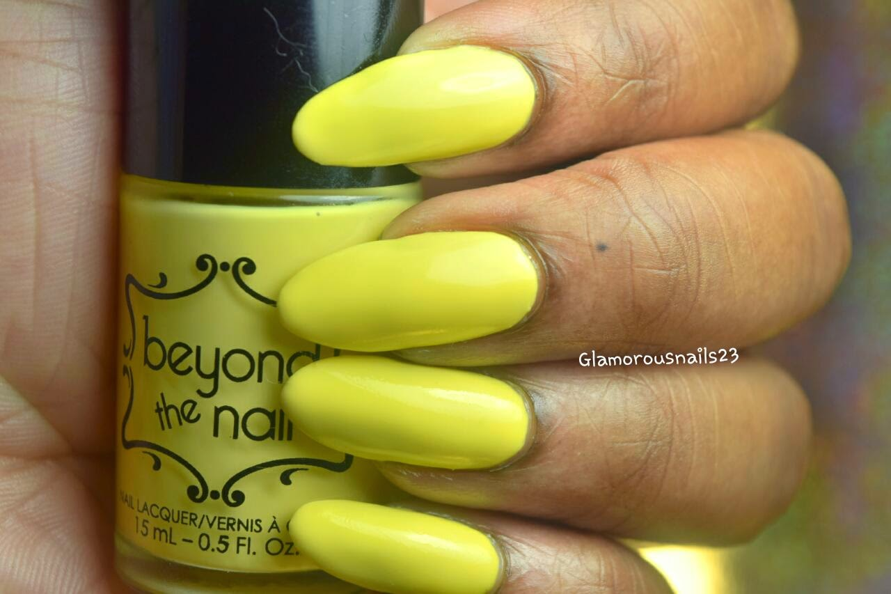 Beyond The Nail Spring Yellow Swatch