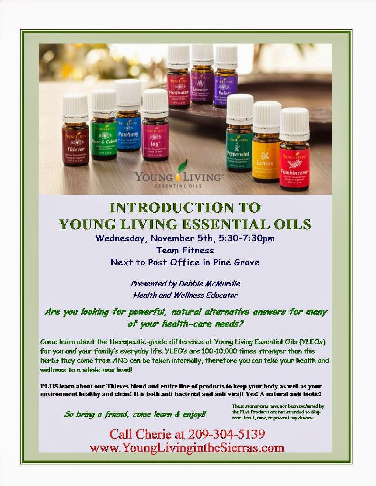 Free Essential Oils Workshop - Wed Nov 5