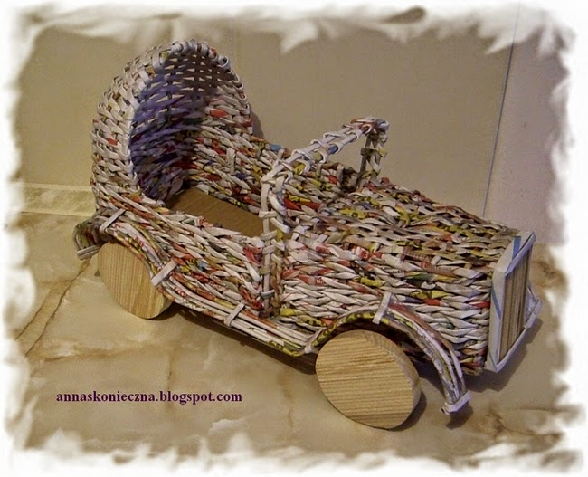 auto,papierowa wiklina