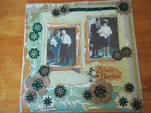 Christening Scrapbook Page Layout