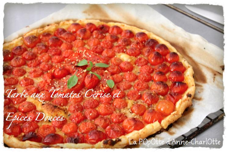 la popotte d 39 anne charlotte tarte aux tomates cerises et epices douces. Black Bedroom Furniture Sets. Home Design Ideas