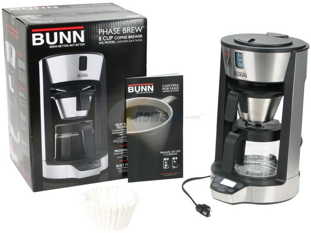 Cuisinart Coffee Maker Wonot Drip Water : kitchen appliance packages: Reviews about BUNN HG Phase Brew 8-Cup Home Coffee Brewer
