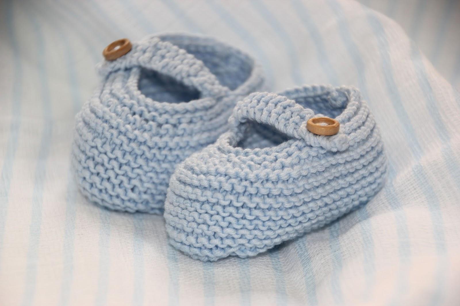 Lujo Los Zapatos De Bebé Libres Patrón Que Hace Punto Patrón - Manta ...