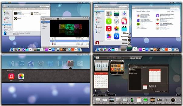 تحويل الوندوز7 أو 8 إلى ios7 مع iOS7 Skin Pack