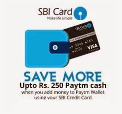 Paytm Wallet Cash Offer - Upto Rs 250 Cash Back - SBI Credit Card
