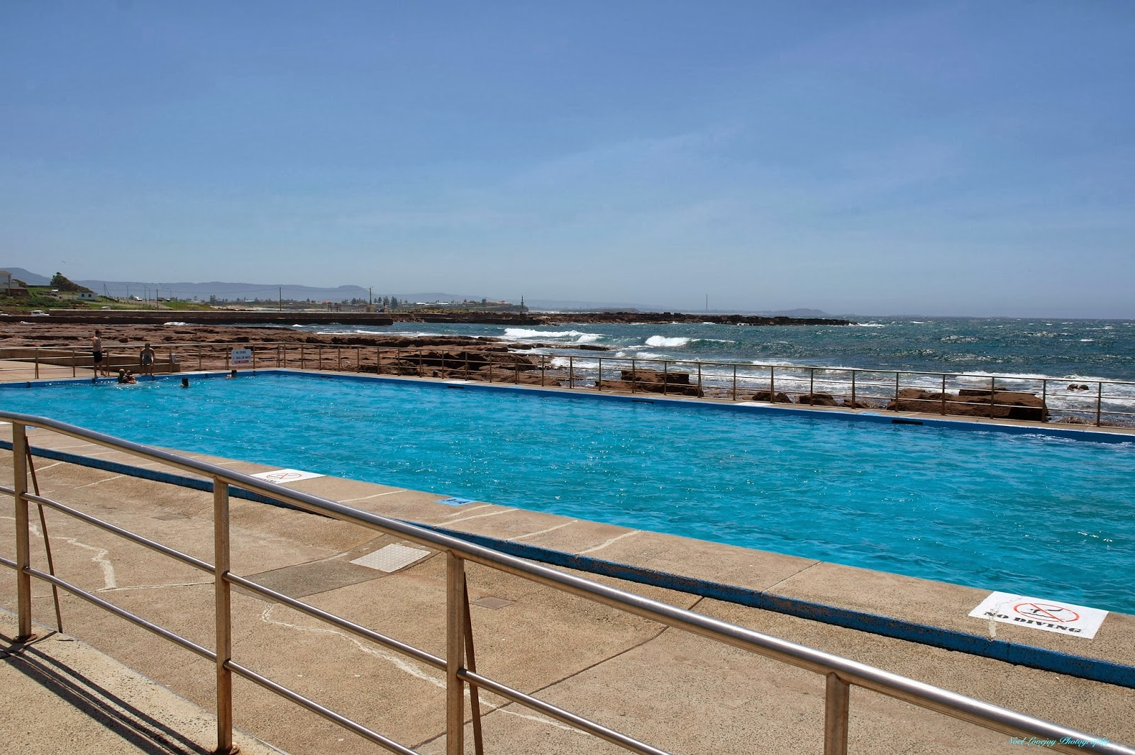 Shellharbour Australia  City new picture : Shellharbour Swimming Pool with Marina Rock Wall in the background.