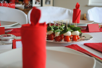 Christmas appetizers Caprese salad