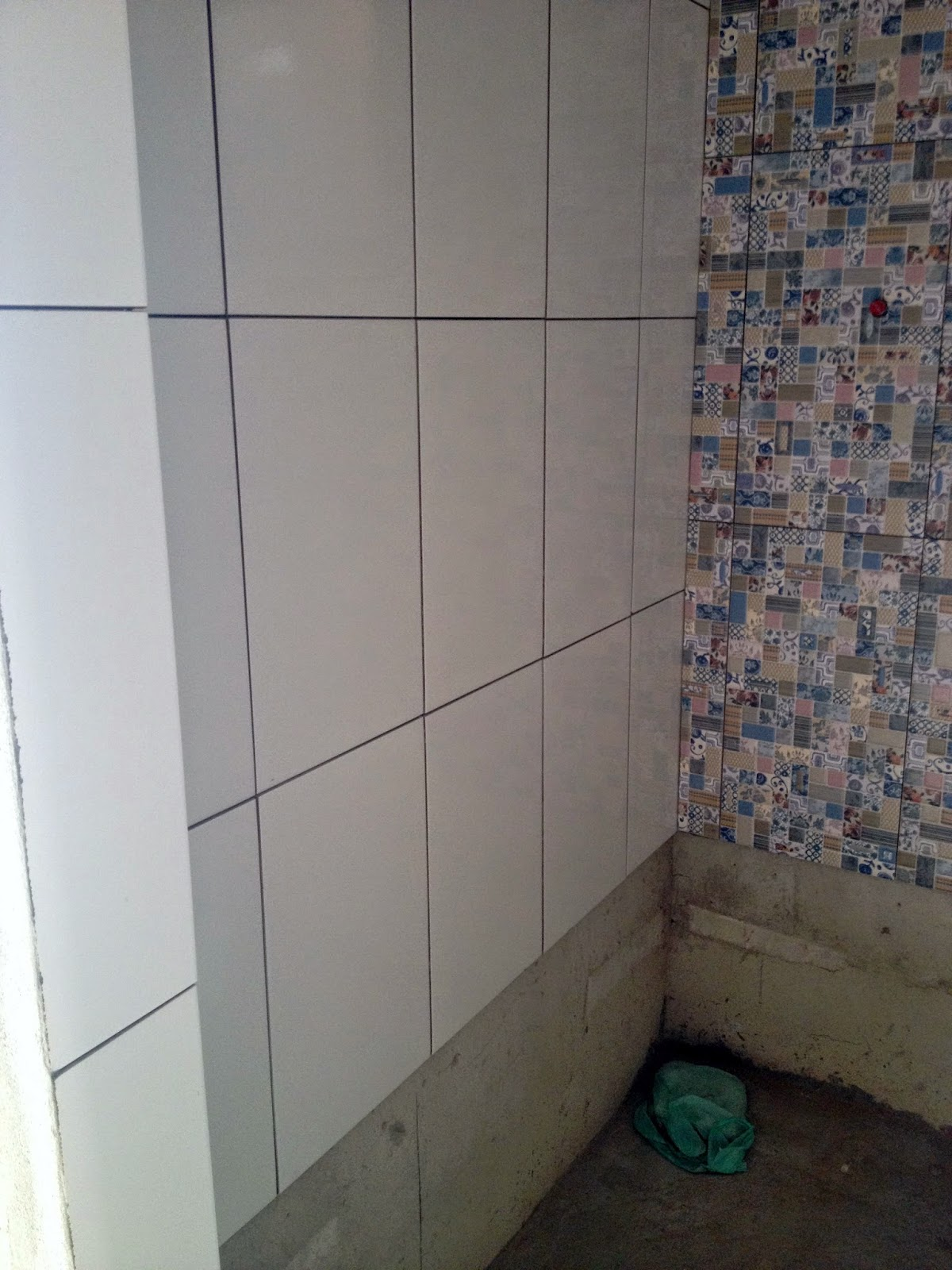 escolha dos revestimentos e piso   fotos da obra Blog Lia  #5A5047 1200 1600