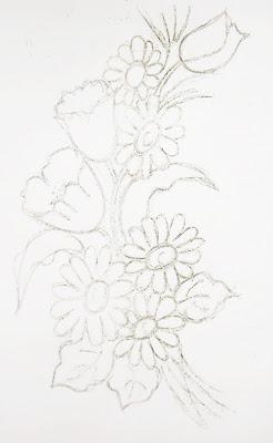 pintura em tecido risco para pintar flores tulipas