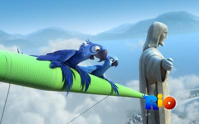 Rio, película de animación que cuenta la historia de dos guacamayos, Blu y Perla