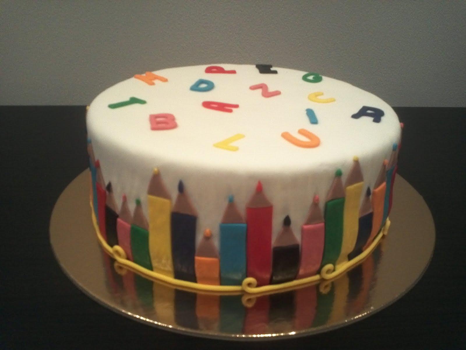 Escola Cake Design Lisboa : Bolinhos 3D: Bolo Escola