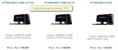 harga komputer PC 2013 terbaru