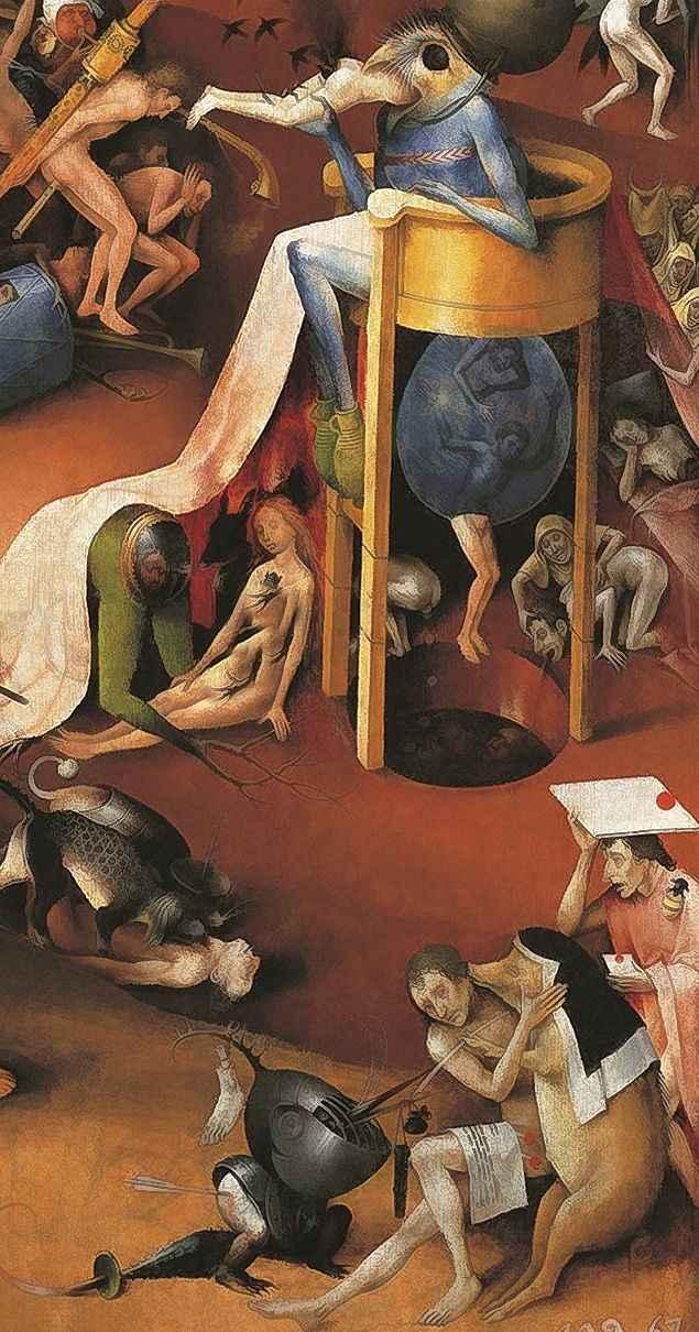 O Jardim das delicias terrenas.  Hyeronimus Bosch (1450 — 1516).