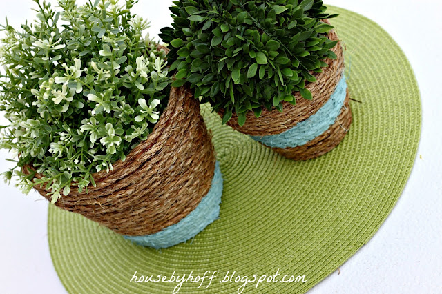 how to make rope wrapped pots via housebyhoff.blogspot.com