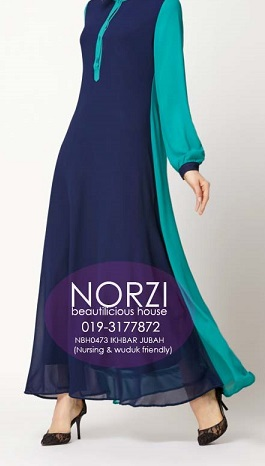 NBH0473 IKBAR JUBAH (NURSING FRIENDLY)