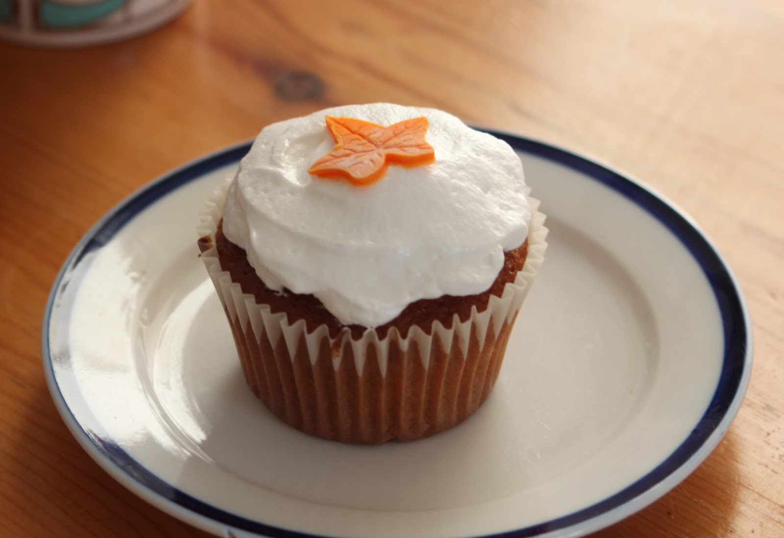 ... with Happiness: Sticky Ginger Cupcakes with Marshmallow Frosting