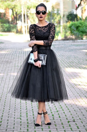 black gotic tulle skirt