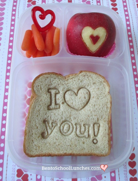 Valentine's Day I Love You Bento Lunch