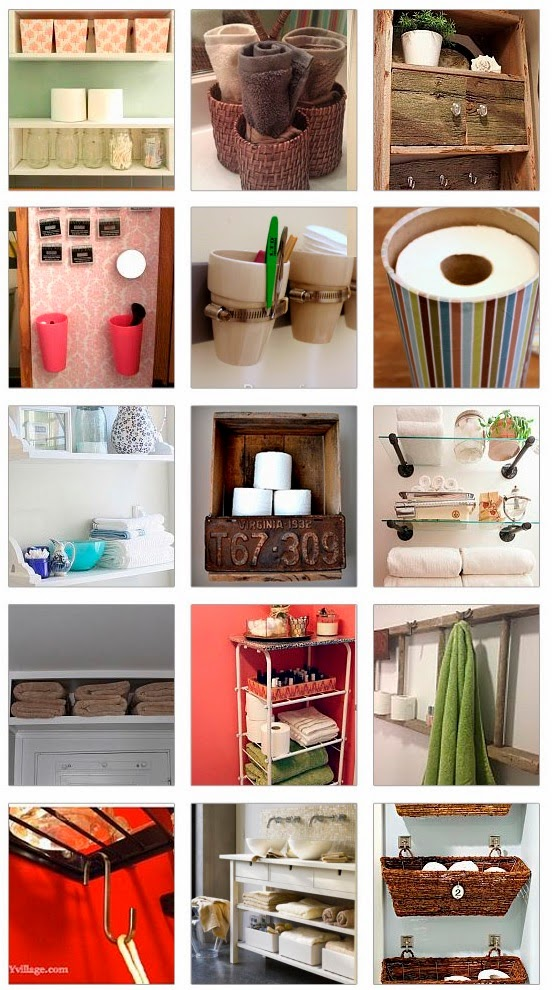 Home decor diy and craft miracles 18 small bathroom Homemade craft storage ideas