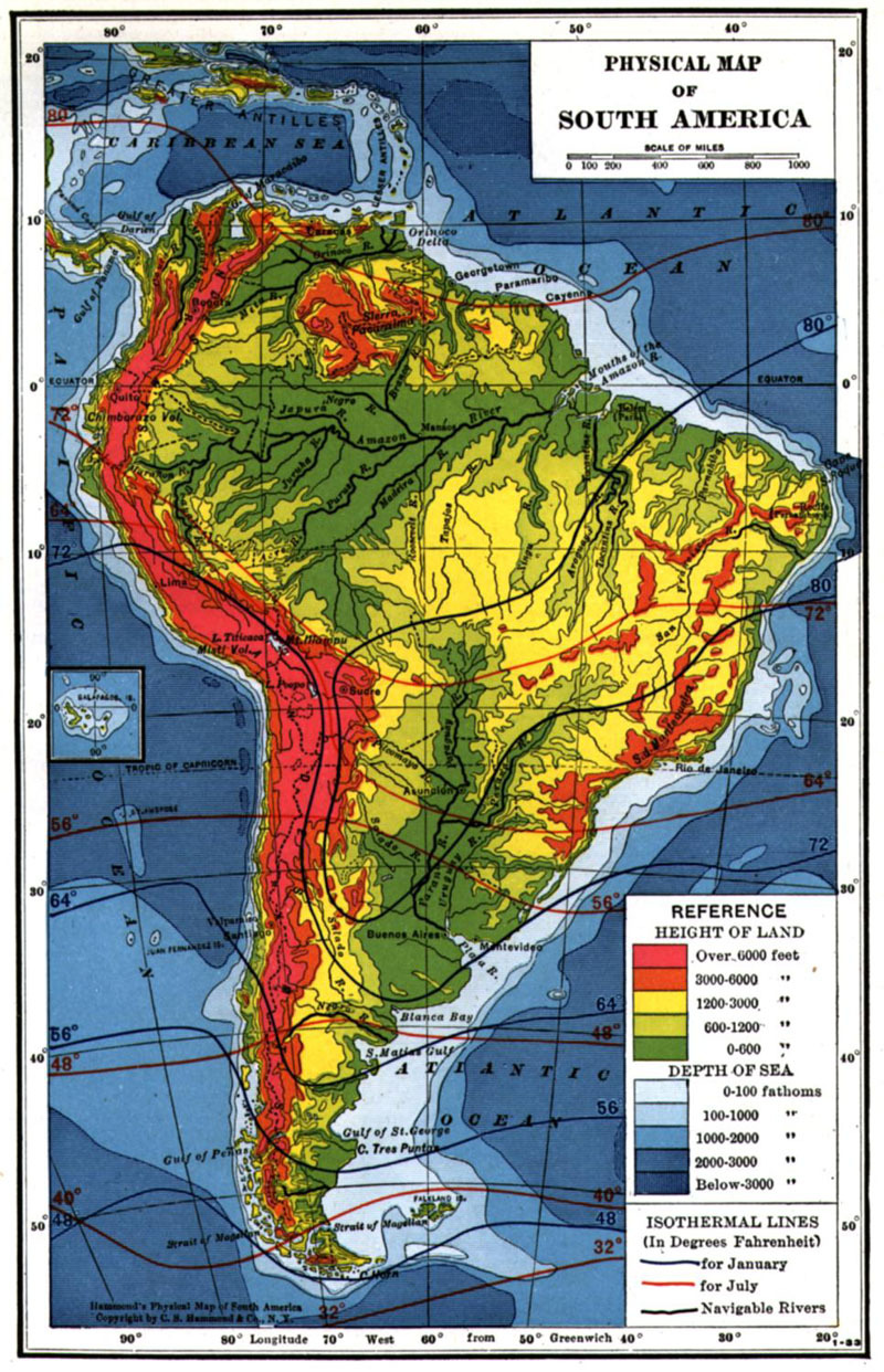 Expedition Earth Maps Of The World - South american population map