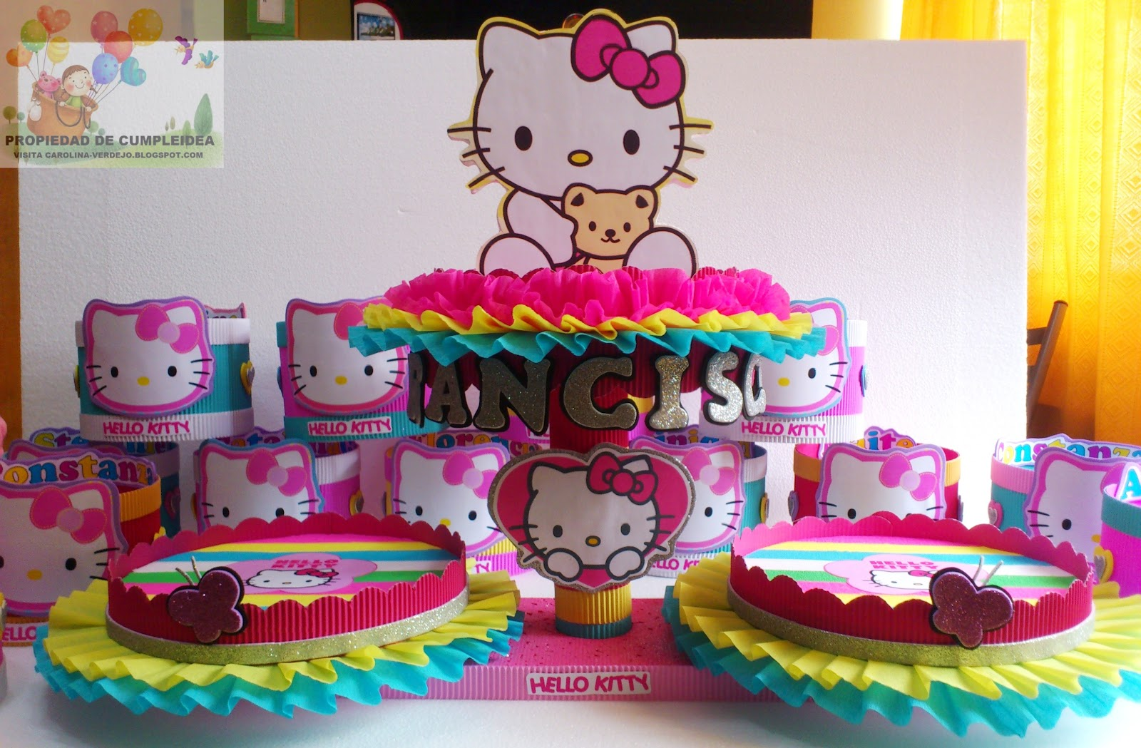 decoracion kitty fiestas infantiles infantiles