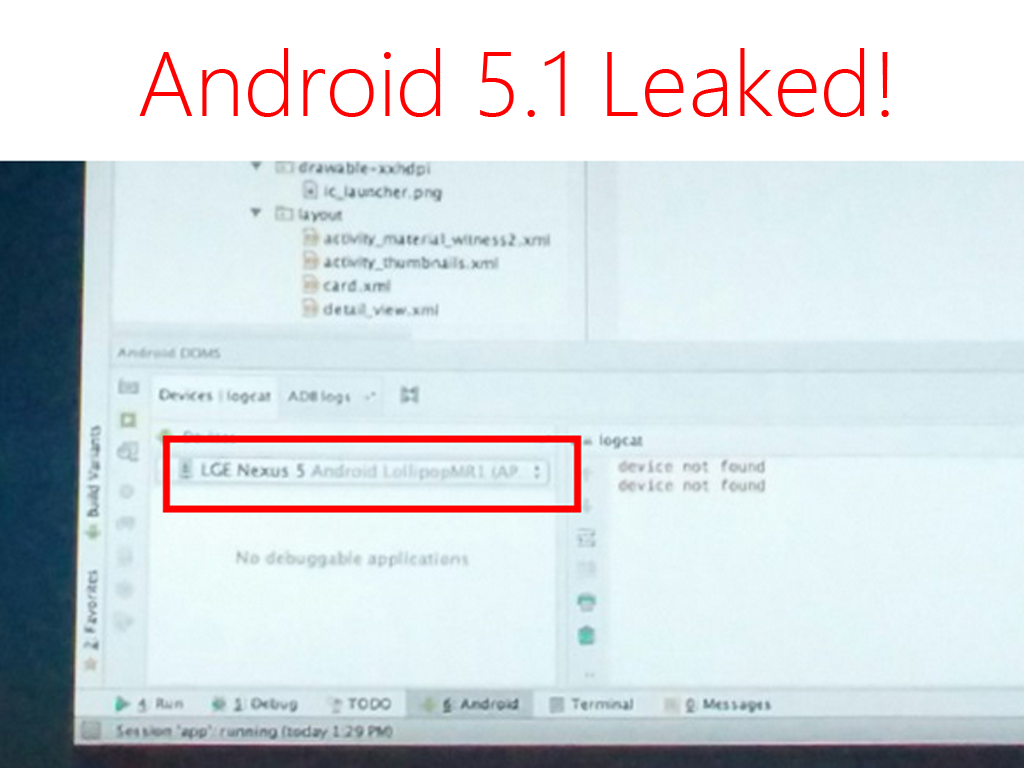 Android 5.1 Leaked by Android Developers During Devoxx Conference