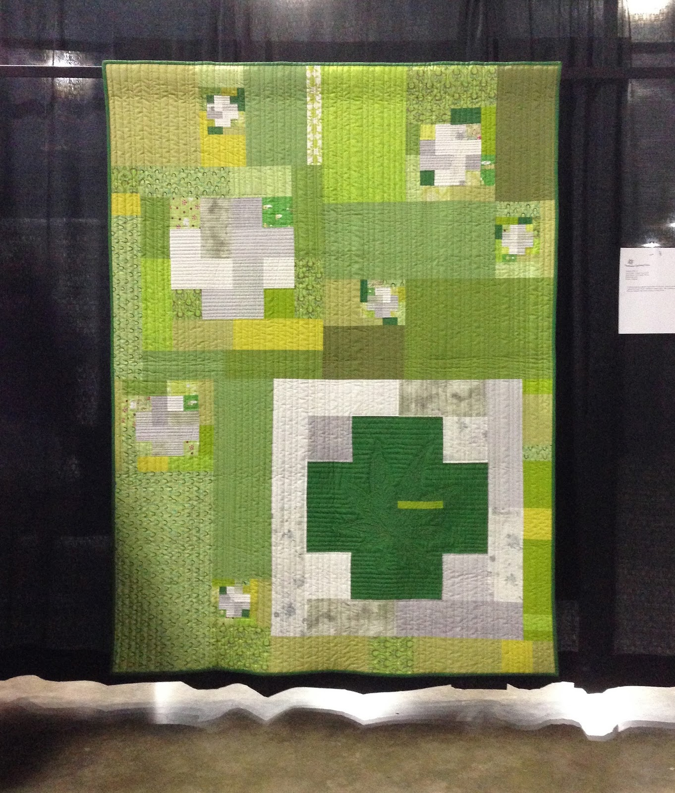 Wonkyworld: Northwest Quilting Expo: The Green Cross Quilt by Gail ... : nw quilting expo - Adamdwight.com