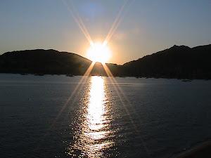 tramonto dal residence Ajaccio