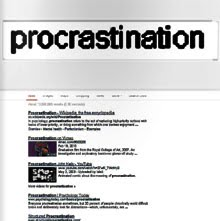 Art E Zine procrastination PAPER edition