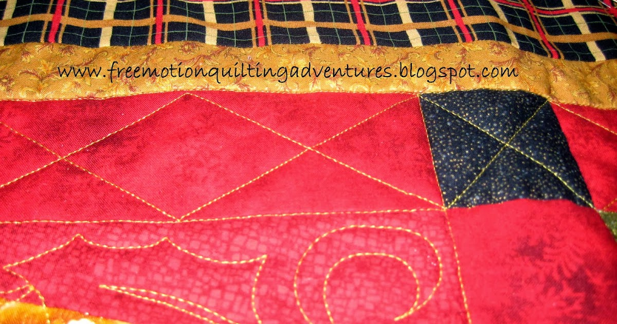 Free Motion Quilting Designs For Sashing : Amy s Free Motion Quilting Adventures: Free Motion Quilting Video: Diamond Sashing