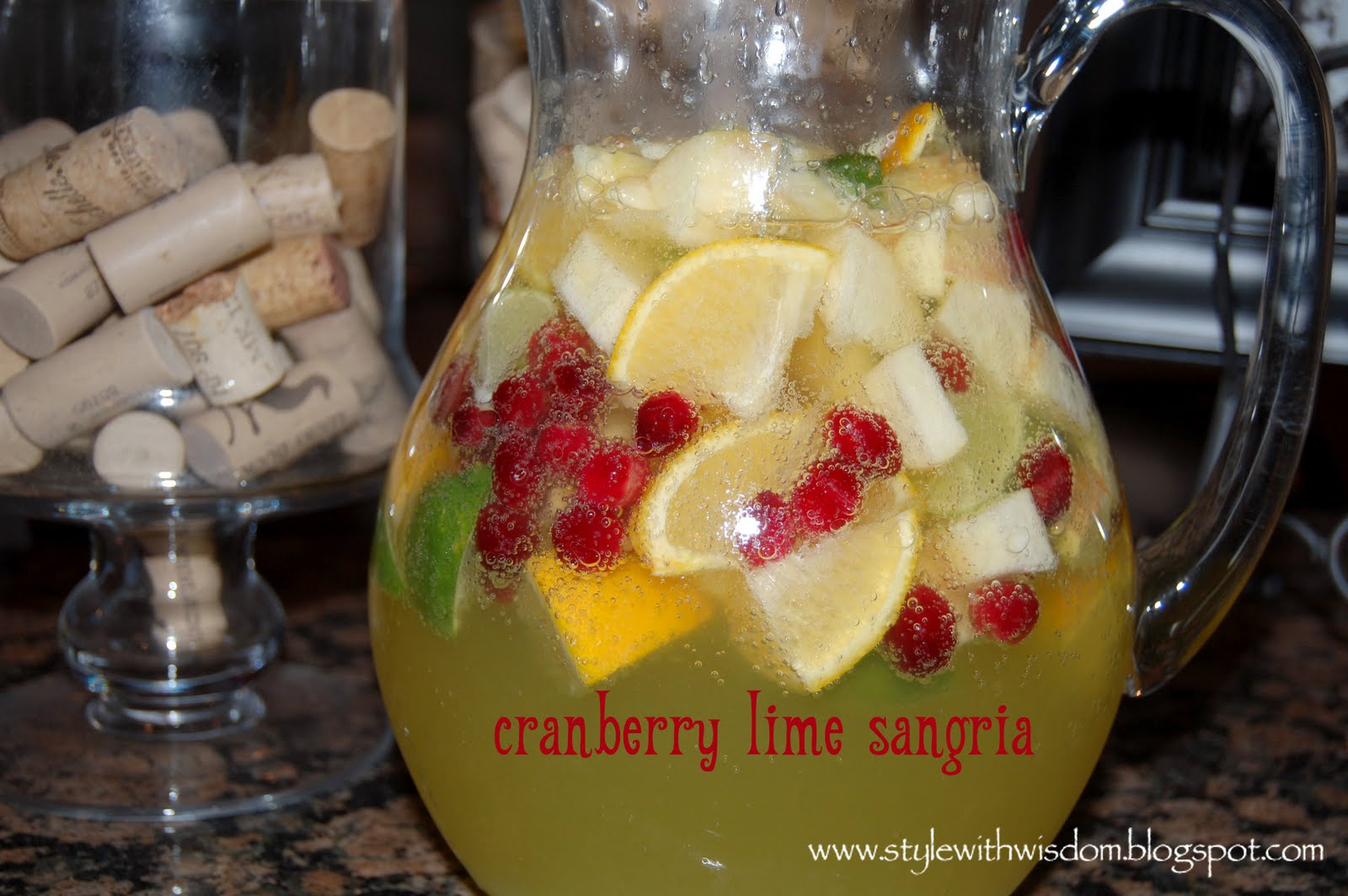 Style with Wisdom: Cranberry Lime Sangria