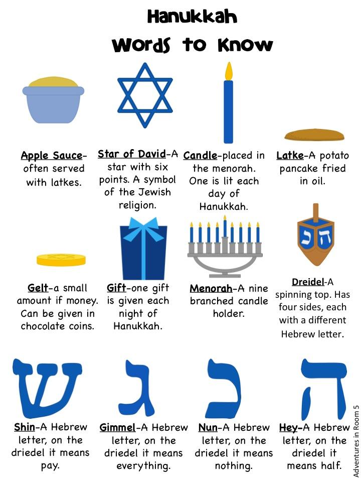 Adventures In Room 5 12 Days Of Freebies Day 4 Hanukkah