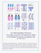It's A Boy and Girl Centerpiece Dolls E-Printable Products Complete Set