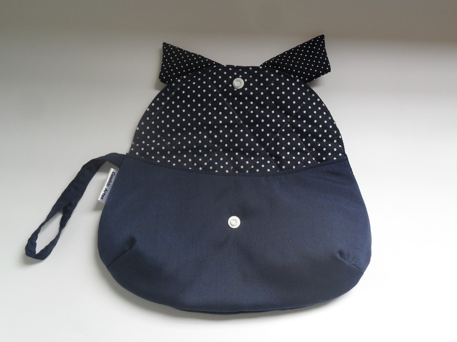 Bolsa De Mao Azul Marinho : Artesanato candido artes bolsa de m?o n?cessaire azul