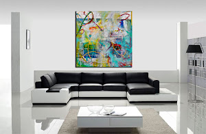 "Abstract Painting ""A Bright Sunny Day"" by Dora Woodrum"