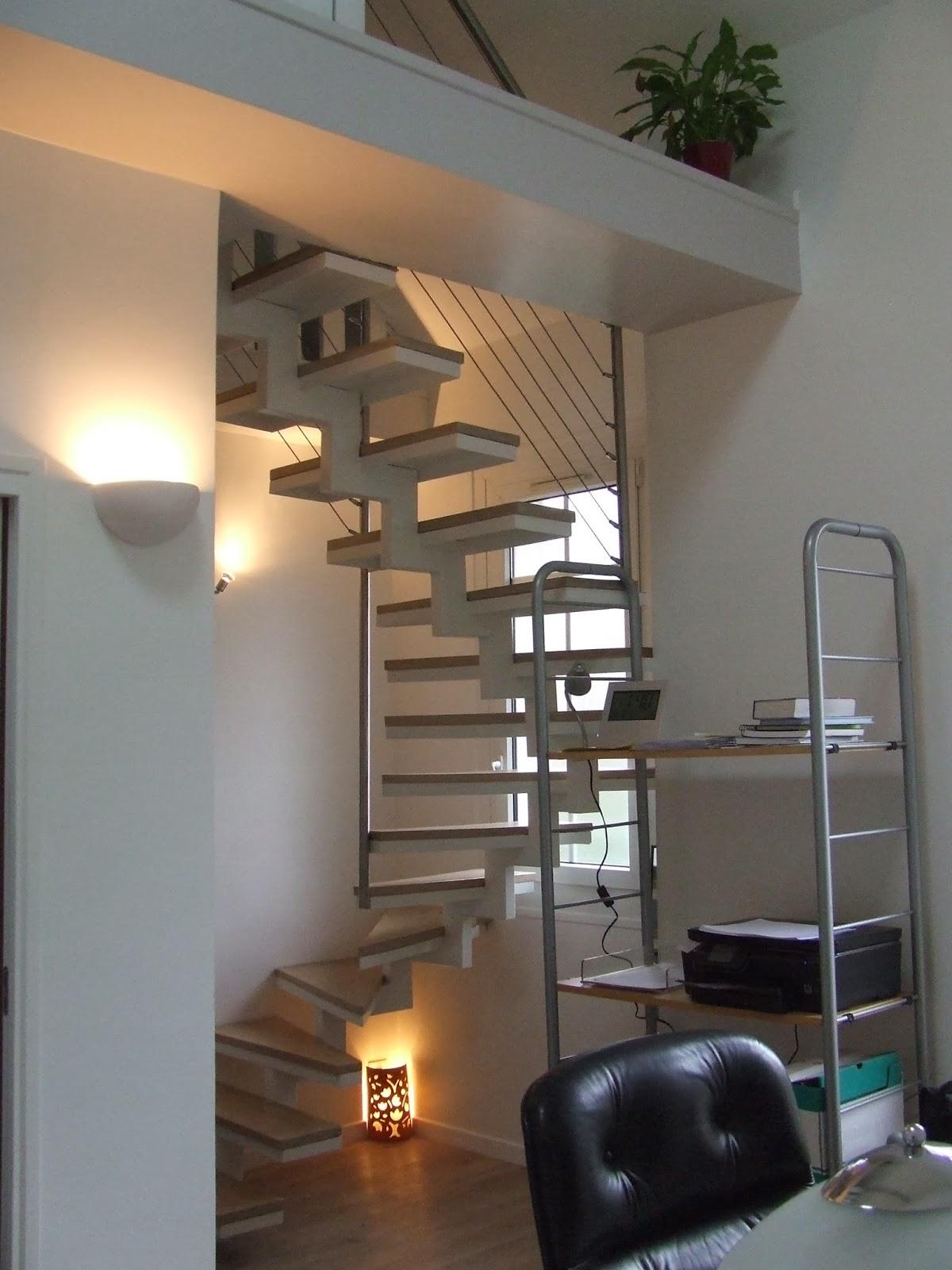 Escalier double quart tournant colombes 92 ferronnerie le fur - Escalier double quart tournant ...